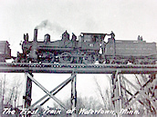 February 1915—First train on Luce Line Railroad through Watertown