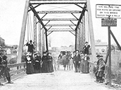 Territorial Bridge over the Crow River, probably 1890s
